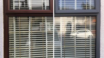 uPVC Window Spray Painting